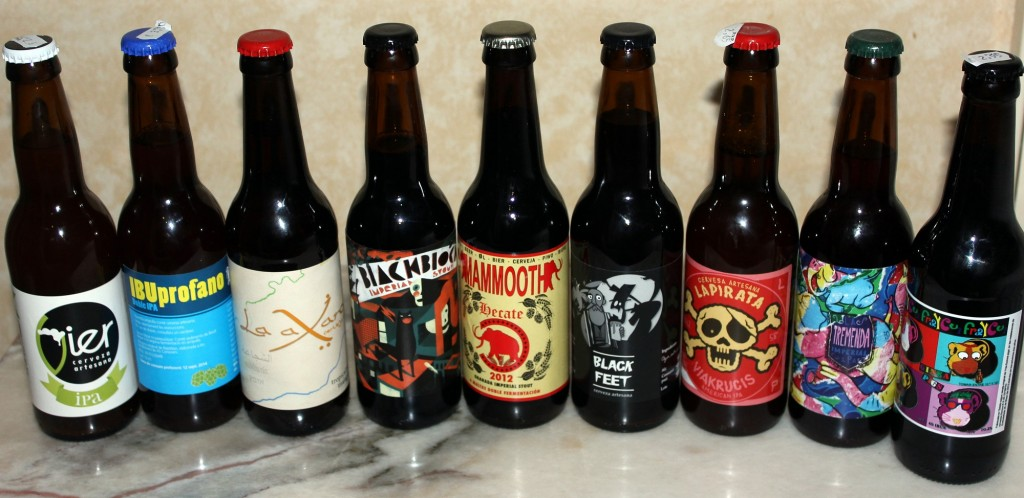 Pyry selected some Spanish Craft Beer for souvenirs