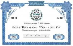Sori Brewing crowdfunding share