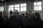 Founder Heikki Uotila introducing brewery to visitors